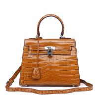 China International elegant fashion handbag custom lady shoulder handbag wholesale ladies crocodile genuine leather bag wholesale