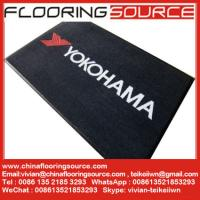 China Nylon fiber rubber back printed carpet logo mat custom size and color wholesale