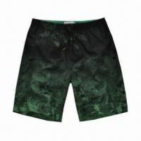 China Boardshorts, Made of 100% Microfiber, Cool and Fashionable Prints, High Quality Drawstring, Special wholesale