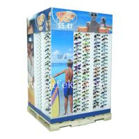 China Custom Sunglasses Cardboard Pallet Display stand for summer promotion wholesale