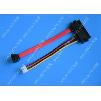 China Female 22-pin to Male 7-pin SATA Data & Molex HSG Data Extension Cable wholesale