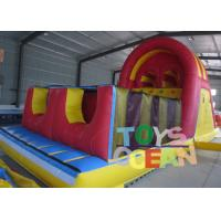 China Durable Fun Inflatable Obstacle Course Inflatable Combo With Two Lanes Slide wholesale