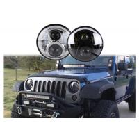 China 60W LED Headlights For Jeep Wrangler 7 Inch With Hi - Lo Beam Round wholesale