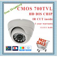 Quality 700TVL Color CMOS camera with IR-CUT weatherproof Dome security Camera 24 IR for sale