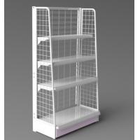 China Grocery Store White Metal Display Rack wire mesh display stand replaced hooks and hangers wholesale