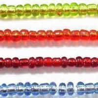 China Glass Seed Jewelry Beads in Silver Line Colors, with Round, Bugle and 2-cut Shapes wholesale