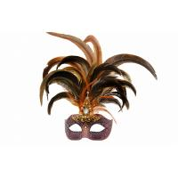 "China Colombina Mask with Metal feather Venetian Carnival   15""3086 wholesale"