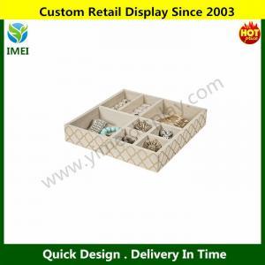 Quality 8 Section Jewelry Tray / Drawer Organizer / Storage Tray Gold YM6-110 for sale