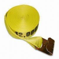 China Tie-down Strap and Cargo Net with Webbing Breaking Strength of 18,000lbs, Available in Yellow wholesale