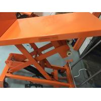 China Mobile Aerial Work Hydraulic Tilt Table Orange Color With Protection Bracket wholesale