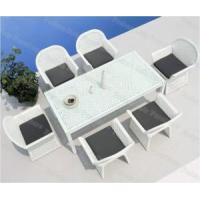 Wholesale Outdoor Dining Set / 7 PC White Patio Dining Set / 6 Seater ...