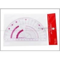 Quality 15cm Flexible Protractor Fashion Design Ruler with Sandwich Line Printing P101 for sale