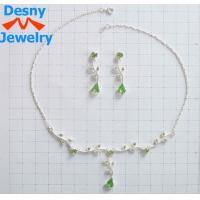 China Tin Alloy Owl Flash Beaded Pearl Necklaces with Rhinestone Main Stone for Anniversary wholesale