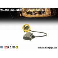China 376G Yellow Water Proof Underground Led Miners Cap Lamp With 8000lux Strong Brightness wholesale