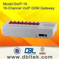 China 16 Channels GoIP Support VPN / Relay , SIP & H.323 SIP GSM Gateway  wholesale