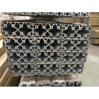 China 2020 4040 8080 4060 T Slot Aluminium Industrial Profile With Silver And Black Anodized wholesale