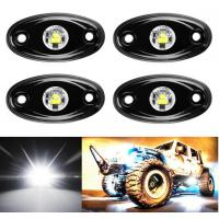 China 4 Pcs Offroad Rgb Rock Light For Jeep Bluetooth Control 9w Multicolor 6000K wholesale
