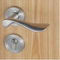 China Casting Solid Stainless Steel Handle Mortise Door Lock 54mm Escutcheon Diameter wholesale