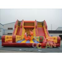 China Yellow Giant Inflatable Slide Rental / Adult Bouncy Inflatable Dry Slides wholesale