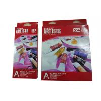 China Free Combination Color Art Painting Colours Acrylic Color Set 12 X 12ml / 24 X 12ml Tubes wholesale