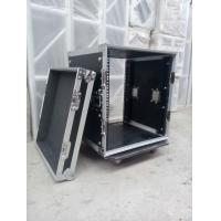 Quality Solid 9mm Thickness Plywood Black 10 Amplifier Rack Flight Case for sale