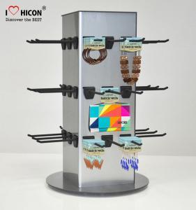 China Counter Top Accessories Display Stand Metal 4 - Way Hanging Jewelry Display Fixtures wholesale