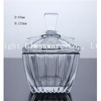 China high white glass square fruit plate, glass candy container with lid wholesale