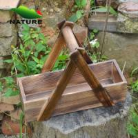 China Wood product » Wood planter & pot » Wooden Rectangular Shaped Outdoor Planter for Flower wholesale