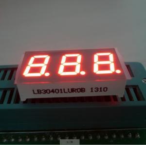 China Triple Digit 7 Segment LED Digital Display For Instrument Panel Indicator 0.40 inch wholesale