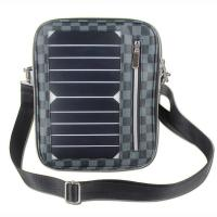 China 5W Water Resistan Solar Charging Backpack With Solar Panel Black Color wholesale