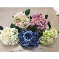 China Artificial Plant&Flowers Rose Holding Flowers 14 Heads Hydrangea Wedding Party Vase Decor on sale