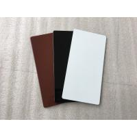 China Black Aluminum Sign Panels / Weatherproof Sign Material With Color Uniformity wholesale