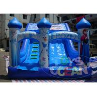 China Frozen Commercial Inflatable Water Slides / Double Lane Water Slide 0.55 PVC wholesale
