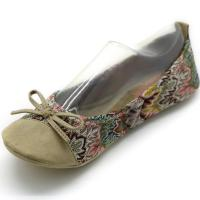 China Causal Ballet Flat Shoes / Round Toe Polyester Flat Dress Shoes 34-46 Size wholesale