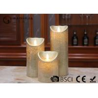 China Dancing Flame Battery Operated Candles , Romantic Flickering Flame Led Wax Candle wholesale