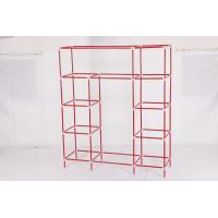China steel tube Non-woven Wardrobe, Bedroom wardrobe  22mm /19MM 3 door  ODM offer wholesale