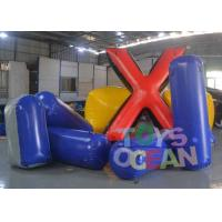 China Difference Shape Inflatable Paintball Bunkers Colorful Air Bunker Set For Sale wholesale