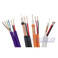China RG59/U CCTV Coaxial Cable 95% BC Braid with BC Power , Siamese CMR Rated Cable wholesale