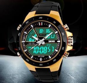 China SKMEI Coly 50M Waterproof Analogue Digital LCD Multifunctional Mens Sports Watch  1016 wholesale