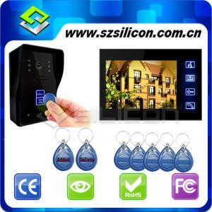China Video doorphone intercom,7 inch TFTLCD Monitor Video Door Phone Doorbell, Hyun black piano lacquer,RFID card lock on sale