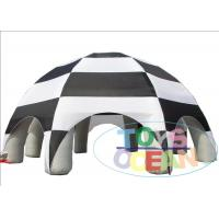 China Black Large Inflatable Spirder Dome Tent Customized For Outside UL / SGS 8 Legs wholesale