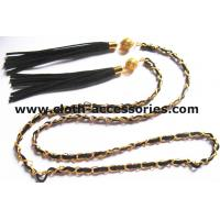 Fringe Gold  Chain Belts For Ladies / Durable Sweater Skinny Waist Belt