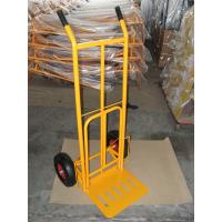 China Foldable Pneumatic Tyre Hand Trolley (HT1827) RUBBER WHEEL TYRE TIRE GARDEN TOOL CART wholesale