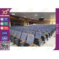 China Upholstery Cold - Rolled Steel Footrest Audience Seating Chairs With Writing Tablet wholesale