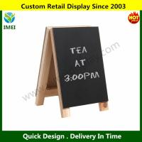 China 8 inch Tabletop Mini Freestanding Wooden Easel Blackboard / Display Chalkboard Sig YM6-088 wholesale