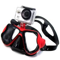 China Snorkel Adult Diving Mask Anti Fog Lens Silicone Strap Material Gopro Mount wholesale