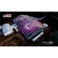 China Large Clearspan Tents 50m x 70m with Clear PVC Roof and Glass Sidewalls wholesale
