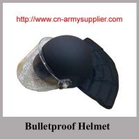 NIJ IIIA USA new style bulletproof helmet with ballistic visor and neck protection