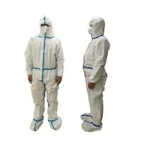 China Lightweight Disposable Protective Coverall Breathable Dust Proof Anti - Static wholesale