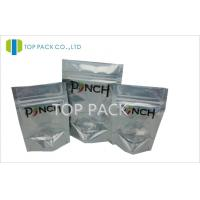 China A Series Of Chili Foil Stand Up Pouches Front Clear Back Silver Zip Lock on sale